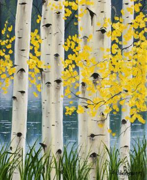 Yellow Aspen Leaves by Julie Peterson