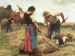 Haymaking, 1880 by Julien Dupré