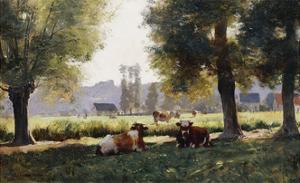 Prairie a Arques-la Bataille, Normandie by Julien Dupre