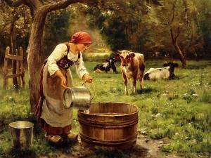 Tending the Cows by Julien Dupre