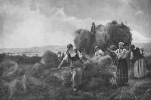 'The Harvesters', c1885, (1912) by Julien Dupre