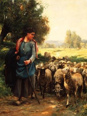 The Young Shepherdess, C.1900 by Julien Dupre