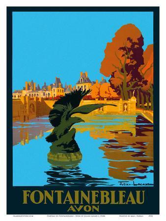 Chateau de Fontainebleau - Avon - France - Paris-Lyon-Mediterranee Railway (PLM), French Railroad
