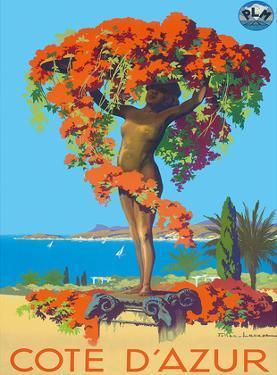Cote D'Azur Statue PLM c.1935 by Julien Lacaze