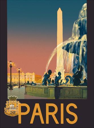 Paris - Place de La Concorde Fountain - Chemins de fer de Paris-Lyon-Méditerranée Railway (PLM) by Julien Lacaze