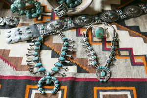 Beautiful Turquoise Jewelry Displayed for Sale, Santa Fe, New Mexico by Julien McRoberts
