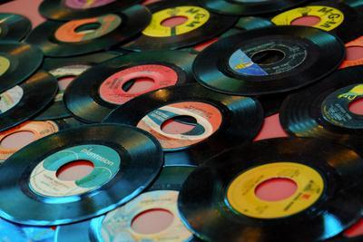 Collection of Vinyl Records, Wildwood, New Jersey, Usa