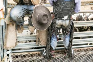 Cowboy Competitor in His Riding Regalia, Taos, New Mexico by Julien McRoberts