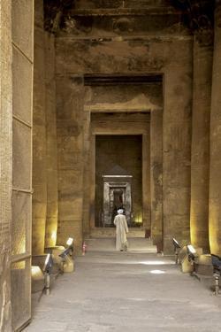 Egyptian man at Edfu Temple, Egypt. by Julien McRoberts