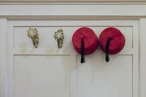 Fez hats. Winter Palace Hotel. Luxor, Egypt. by Julien McRoberts