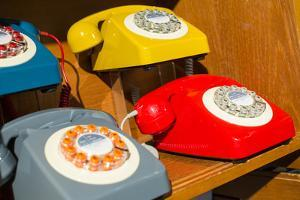 New York City, NY, USA. Reproduction Vintage Telephones by Julien McRoberts