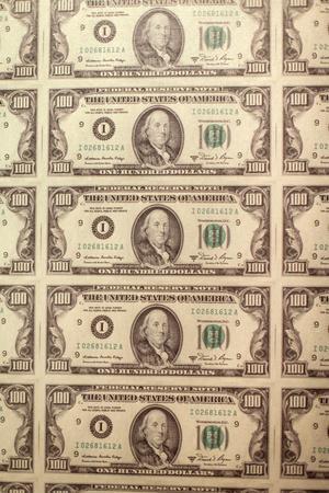 Prints of Money at the Mob Museum, Las Vegas, Nevada. Usa
