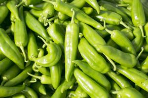 Santa Fe, New Mexico. Farmers Market Selling Local Chilies by Julien McRoberts