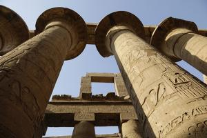 The Temple of Karnak at Luxor, Egypt. by Julien McRoberts
