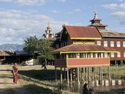 Buddhist Monastery on Inle Lake, Shan State, Myanmar (Burma) by Julio Etchart