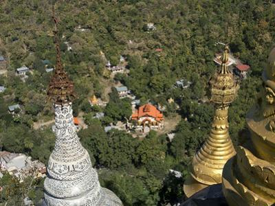 Buddhist Temples of Mount Popa Near Bagan, Myanmar (Burma) by Julio Etchart
