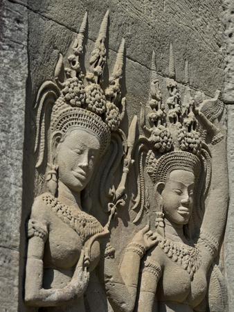 Detail of Carvings, Angkor Wat Archaeological Park, Siem Reap, Cambodia, Indochina, Southeast Asia