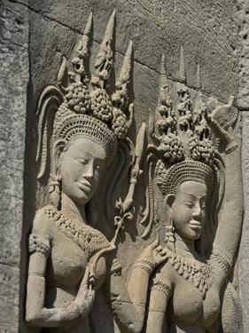 Detail of Carvings, Angkor Wat Archaeological Park, Siem Reap, Cambodia, Indochina, Southeast Asia by Julio Etchart