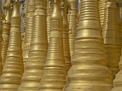 Detail of Old Buddhist Temple N the Inle Lake Region, Shan State, Myanmar (Burma) by Julio Etchart
