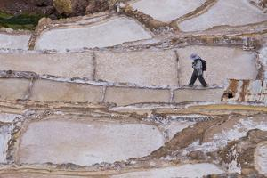 Maras Saltpan Salinas in the Sacred Valley of the Incas, near Cusco, Peru, South America by Julio Etchart