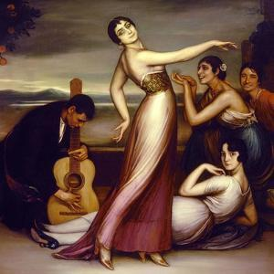 An Allegory of Happiness, 1917 by Julio Romero de Torres
