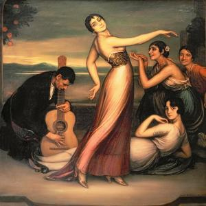 An Allegory of Happiness by Julio Romero de Torres