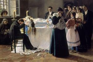 Mira Que Bonita Era-1895 by Julio Romero de Torres