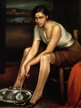 The Alluring Young Girl by Julio Romero de Torres