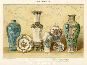 Asian Porcelains by Julius Bien, C.1880 by Julius Bien