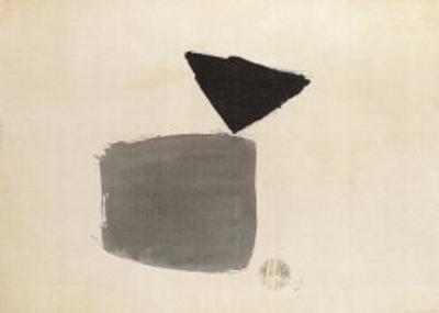Viereck Und Dreieck, c.1948 by Julius Bissier