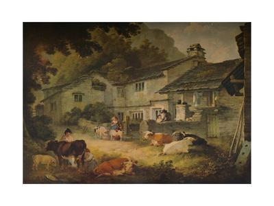 Cottage Scenery with Cattle, at Ambleside, 1803