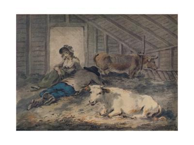'Courtship in a Cowshed', c1801