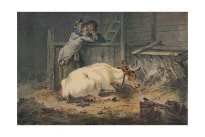 'Courtship in a Cowshed', c18th century