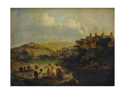 'Women Washing Clothes in a Welsh Stream', 1790