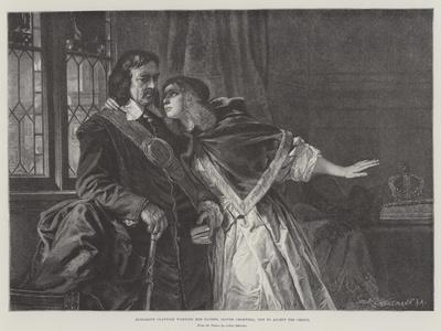 Elizabeth Claypole Warning Her Father, Oliver Cromwell, Not to Accept the Crown
