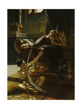 David and Saul, 1885 by Julius Kronberg