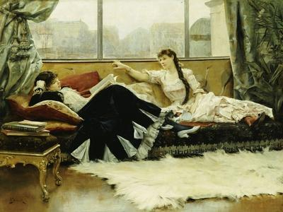 Sarah Bernhardt (1844-1923) and Christine Nilsson (1843-1921)