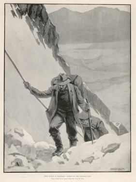 On the Klondike Trail, Gold Prospectors at the Summit of the Notorious Chilkoot Pass by Julius M. Price