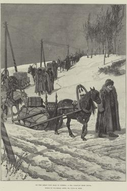 On the Great Post Road in Siberia, a Tea Caravan from China by Julius Mandes Price