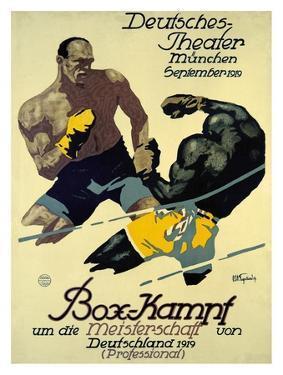 Box-Kampf by Julius Ussy Engelhard