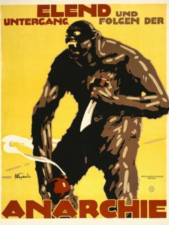 Misery and Destruction Follows Anarchy by Julius Ussy Engelhard