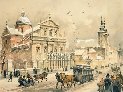 Church of Ss. Peter and Paul, Krakow, from 'Klejnoty Miasta Krakowa', Published 1899 (Colour Litho)