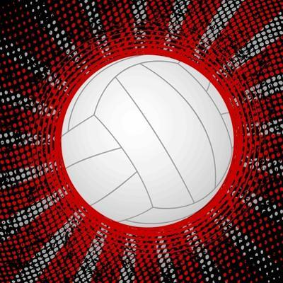 Abstract Grunge Volleyball. Illustration by Julydfg