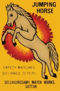 Jumping Horse Safety Matches