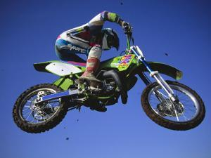 Jumping with Dirt Bike in Midair