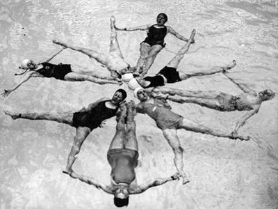 June 1937:  a Team of Swimmers Calling Themselves 'Mermaids' at Wembley Pool.