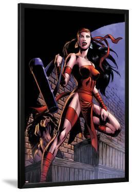 Herc No.8: Elektra Posing in an Alleyway by June Brigman