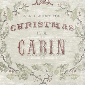 Cabin Christmas IV by June Erica Vess