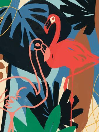 Funky Flamingo II by June Erica Vess