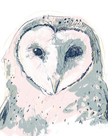 Funky Owl Portrait I by June Erica Vess